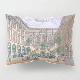 Paris art print Paris Decor office decoration vintage decor HOTEL DU LOUVRE of Paris Pillow Sham