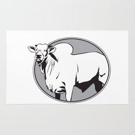 Bull zebu vintage logo Rug
