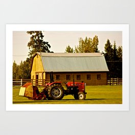Lonely Tractor  Art Print