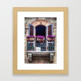 Pretty Italian Garden Window Framed Art Print