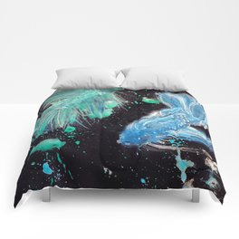 Betta Splendens Splatter Comforters