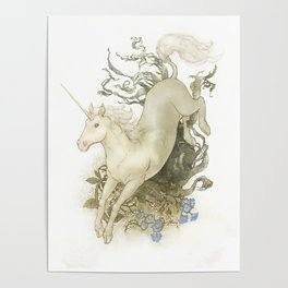 Unicorn and Silver Poster