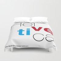 helvetica Duvet Covers featuring Helvetica by Ana Guillén Fernández