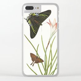 Two butterflies on a Lily, 1747 Clear iPhone Case