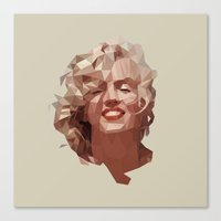 marilyn Canvas Prints featuring marilyn by gazonula