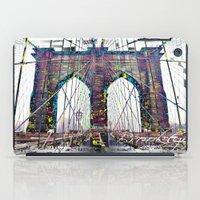brooklyn bridge iPad Cases featuring brooklyn bridge by Vector Art