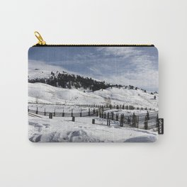 Carol M Highsmith - Snow Covered Hills Carry-All Pouch
