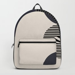 Geomertic Art N21074 Navy Gray Backpack