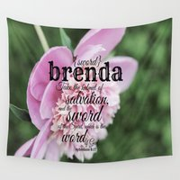 scripture Wall Tapestries featuring Brenda scripture by KimberosePhotography