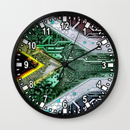 circuit board South Africa (Flag) Wall Clock
