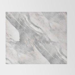Castello silver marble Throw Blanket