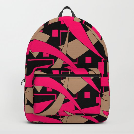Creative abstract pattern . Geometric shapes .4 Backpack