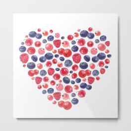 Berry Love Metal Print