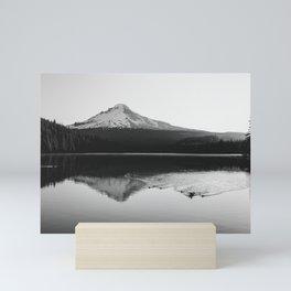 Wild Mountain Sunrise - Black and White Nature Photography Mini Art Print