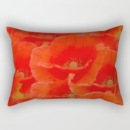 Red Poppies #decor #society6 #buyart Rectangular Pillow