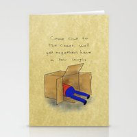 die hard Stationery Cards featuring Die Hard Box by Acrylic Pixel