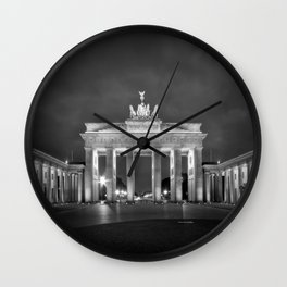 BERLIN Brandenburg Gate | monochrome Wall Clock