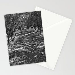 Black & White Almond Orchard Pencil Drawing Photo Stationery Cards