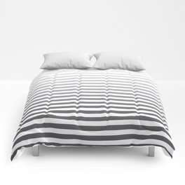 Gray and White Ombre Stripes Comforters