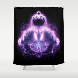 Purple Buddhabrot Fractal Art Shower Curtain