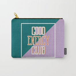Good Energy Club- turquoise, orange, and lavender Carry-All Pouch