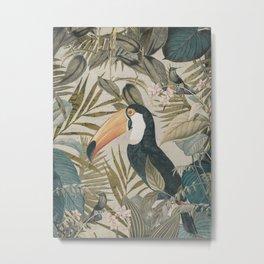 Toucan And Hummingbirds Metal Print