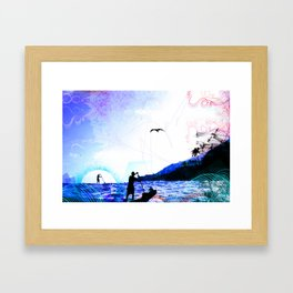 PADDLE DAY  Framed Art Print
