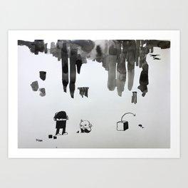 missed blocks Art Print