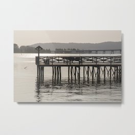 Pier at Noia, Galicia, Spain Metal Print