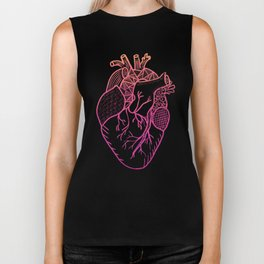 Designer Heart Colors Biker Tank