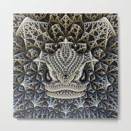 fractal dragon Metal Print