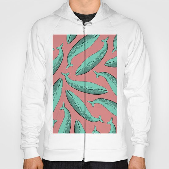 calm whale pattern Hoody