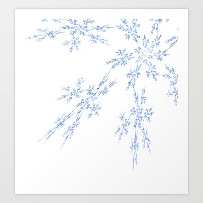 Snowflakes Falling Art Print