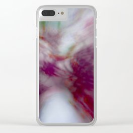 Tie-Dye (abstract created from blooming redbuds) Clear iPhone Case