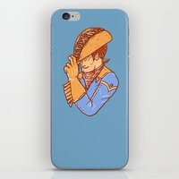 taco iPhone & iPod Skins featuring Taco Cowboy by Jonah Makes Artstuff