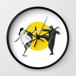 Anna Karina & Jean Paul Belmondo on the set of Une Femme Est Une Femme (1961) /Artwork, film designs Wall Clock