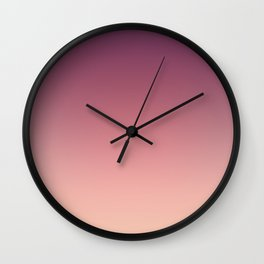 Purple cream Ombre . Wall Clock