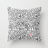 numbers Throw Pillows featuring Numbers by Marissa Regelin