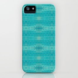 Blue Glass Diamonds iPhone Case