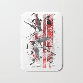 wings of a swallow Bath Mat