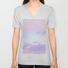 Unicorn Pastel Clouds #1 #decor #art #society6 Unisex V-Neck