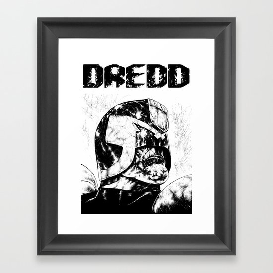 Dredd Framed Art Print