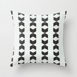 Phillip Gallant Media Design - Black Diamonds on White Throw Pillow