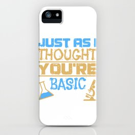 Simply Structured Research Sarcasm Gift iPhone Case