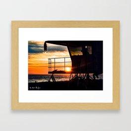 No Eclipse In Sight - Surf City September 27, 2015 Framed Art Print