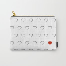 Hearts - Classic Red Carry-All Pouch