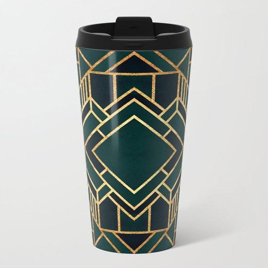 Art Deco 2 Metal Travel Mug