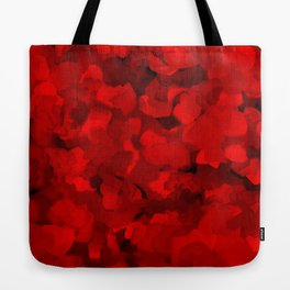Rich Scarlet Red Gradient Abstract Tote Bag