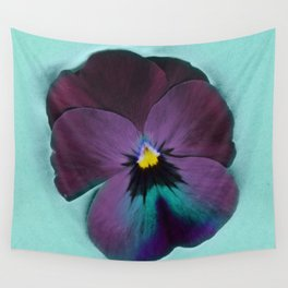 Purple viola tricolor Wall Tapestry