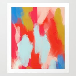 Summer In Abstract Art Print